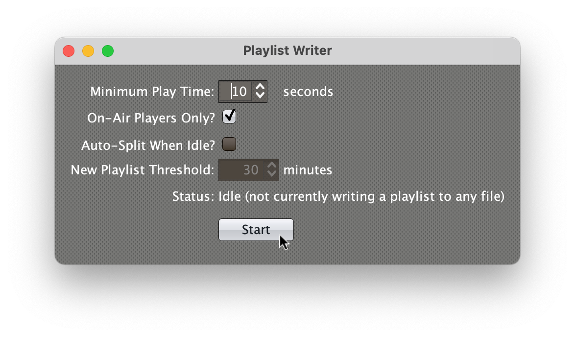 Playlist Writer